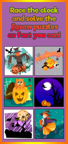 Solve the puzzles as fast as you can to earn stars and move onto the next puzzle in this fun Halloween game for kids of all ages!