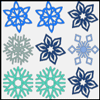 Free Online Game: Snowflake Match Up