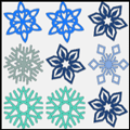 Puzzle Game: Snowflake Match Up