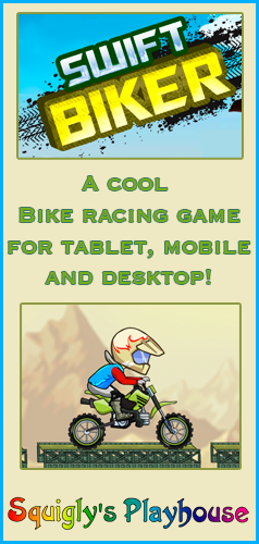 Swift Biker is a cool tablet, mobile and desktop game for kids of all ages!