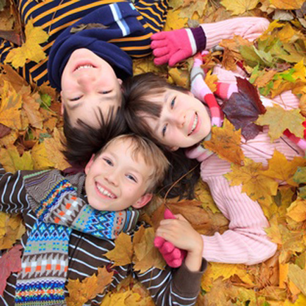 Sliding Tile Game: Kids in Leaves
