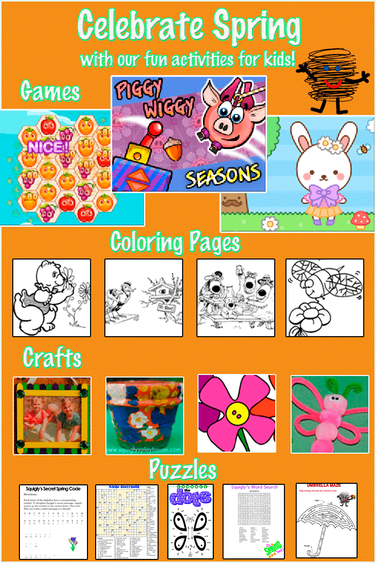 Fun spring themed activities for kids!