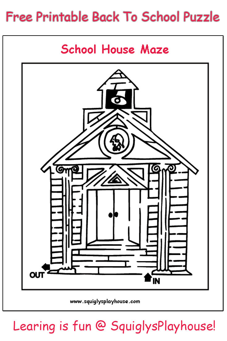 Print this free maze for kids to solve. Free to use at home or in the classroom. Learning is fun at Squigly's Playhouse!