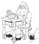 Pencil Puzzle: Santa's Workbench Spot the Difference