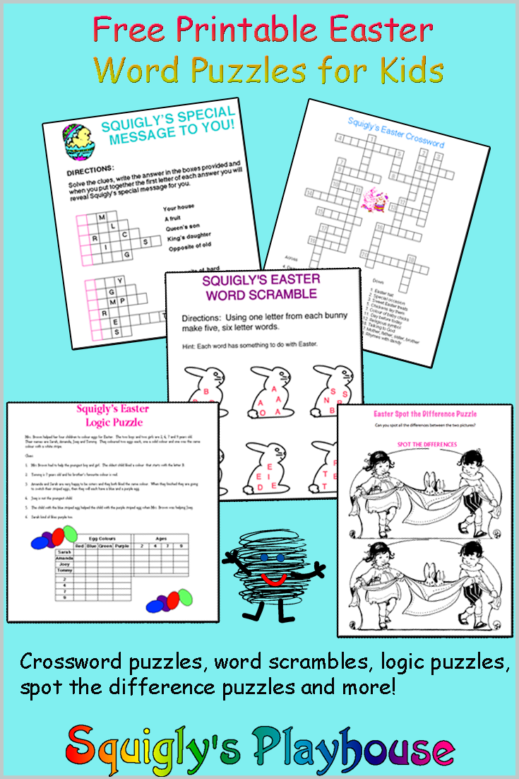 Printable Easter Puzzles for Kids