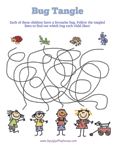 Bug Tangle Puzzle