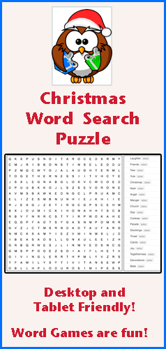 find all the words words hidden in this online word search puzzle words appear horizontally - Christmas Word Search Games