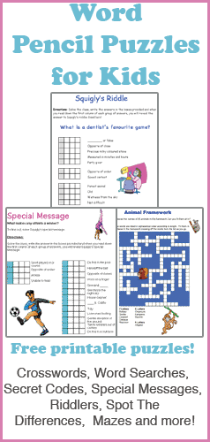 Modular Classroom Crossword ~ Pencil puzzles for kids mobile