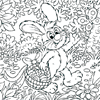 Easter Bunny Walking In The Forest Coloring Page