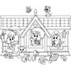 Coloring Page of Kindergarten