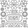 Best Mom Mother's Day Coloring Page