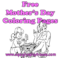Free printable Mother's Day Coloring Pages for kids.