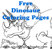 Free Dinosaur Coloring Pages for kids.
