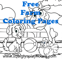 Farm Coloring Pages for kids.