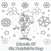 March 17 St. Patrick's Day Coloring Page