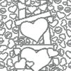 Heart Ladder Valentine Coloring Page