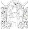 Prince and Princess Coloring Page