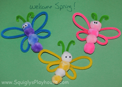 Spring Butterflies Pipe Cleaner Craft Idea Squigly S Playhouse