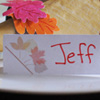 Name Place Cards Autumn Craft