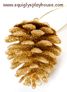 Glitter Pine Cones Christmas Craft