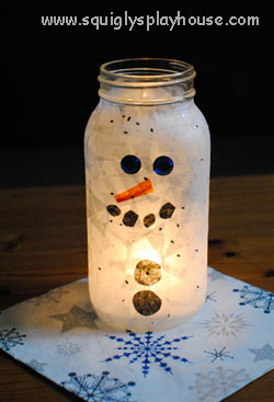 Snowman Light Christmas Craft Squigly S Playhouse