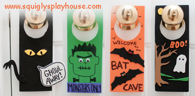 Scary Door Hangers Halloween Craft Squigly S Playhouse