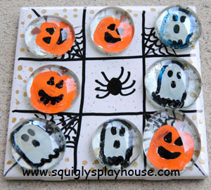 halloween Craft: Tic-Tac-Toe Game