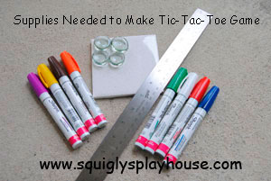 Supplies Needed to Make a Tic Tac Toe Game