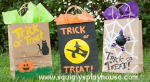 Make Your Own Halloween Treat Bags Squigly S Playhouse
