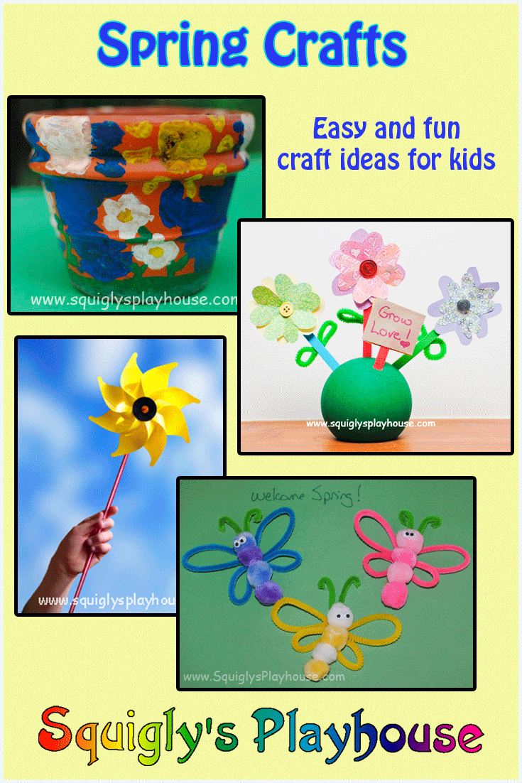 Fun spring craft ideas for kids, including crafts for Easter, Earth Day, Mother's Day and Father's Day!
