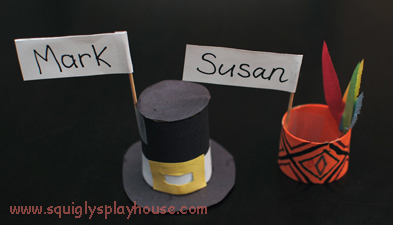 Thanksgiving Day Craft: Name Place Cards