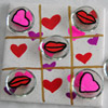 Hearts and Kisses Tic-Tac-Toe Craft