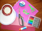 Valentine's Day Craft: Valentine's Wreath Supplies