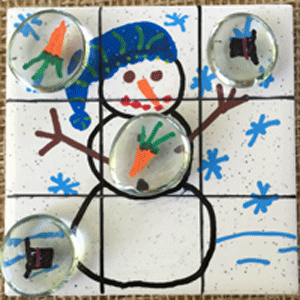 Snowman Tic Tac Toe Winter Craft Squigly S Playhouse