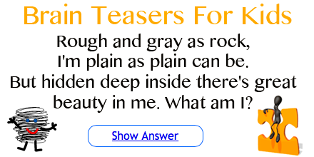 Poem Riddle Brain Teasers for Kids at Squigly's Playhouse