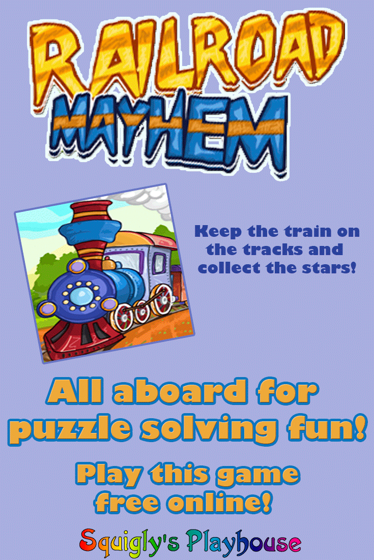 Railroad Mayhem is a fun online puzzle game for kids of all ages. Place the railway track in such a way that the train will collect all the stars as it passes by, but be sure to avoid all the obstacles along the way!