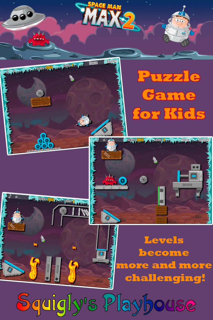 Spaceman Max 2 is a physics-based puzzle game!