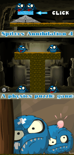 A fun physics based puzzle game for kids of all ages. The monsters are back. Use everything you have at your disposal to to defeat them!