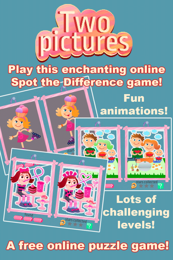 A fun and challenging Spot the Difference Game for kids to play online!