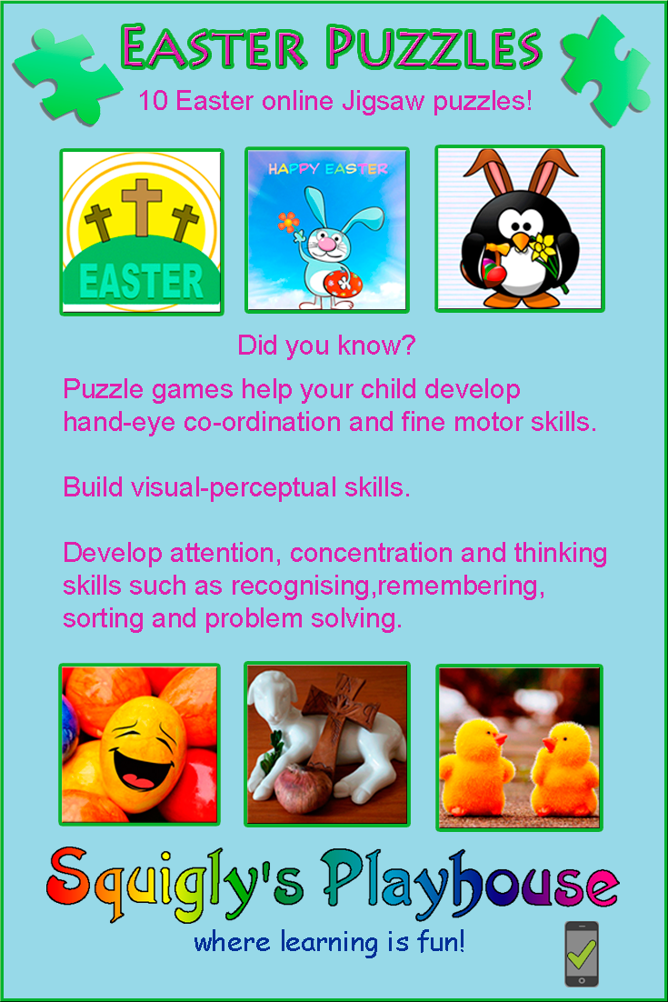 Solve 10 Easter puzzles as quickly as you can!