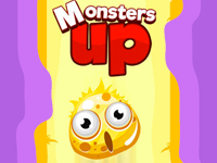 Monsters Up is a fun puzzle game. Click on the monsters to make them jump. Time their jump so they land on the incoming planks. Build a platform high enough to reach the stars! How high will you go in this fun puzzle  game for desktop and mobile?