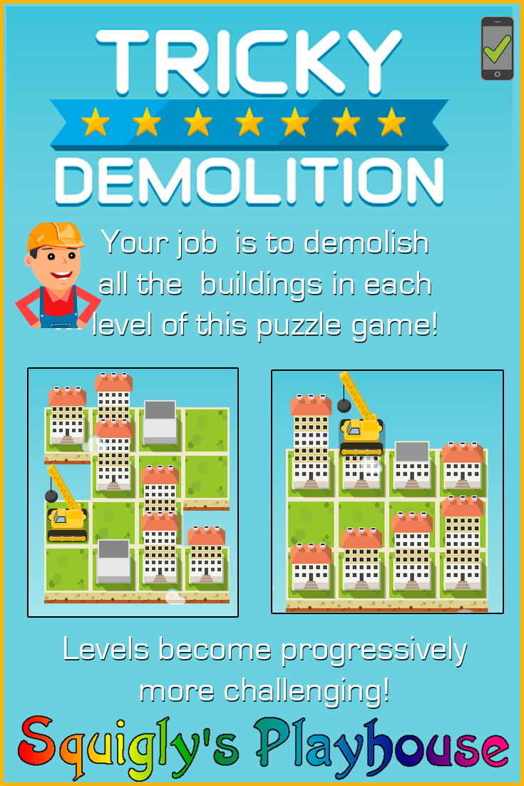 Get ready to show them what you've got as you work for a construction company. Your job is to demolish all the buildings in each level of this fun and challenging puzzle game. Have you got what it takes to stay on the job until the very last building comes down?