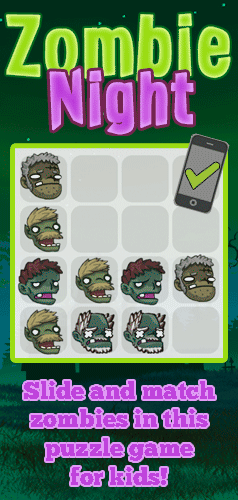 Slide the Zombies to make matches. The more matches you make the more zombies disappear! Go for a high score!