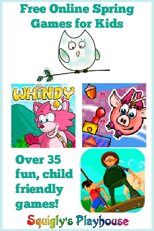 Over 35 online spring games for kids!