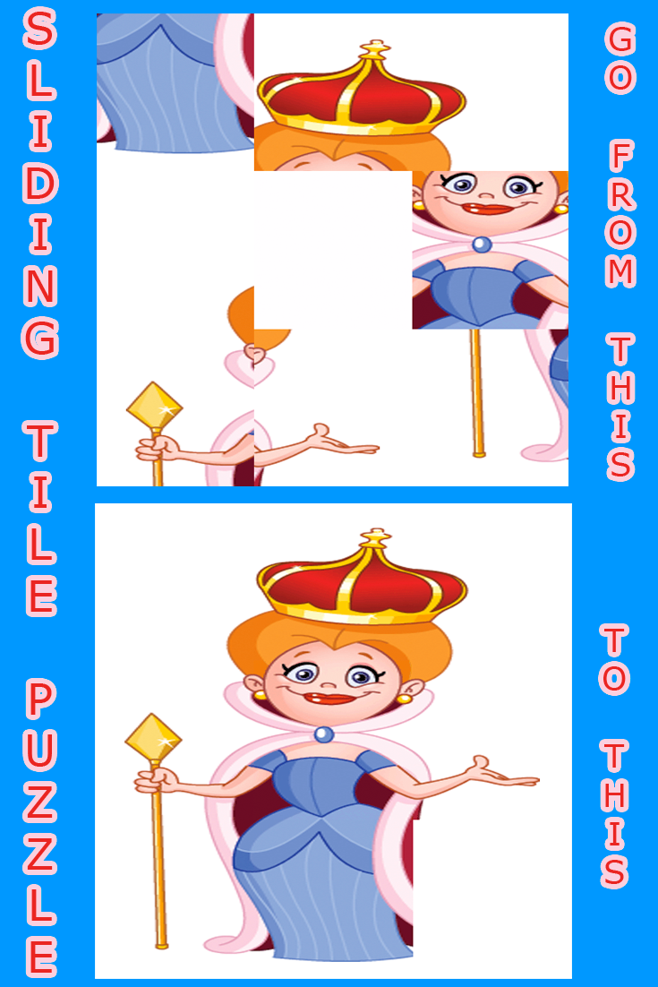 Online Sliding Tile Game for kids