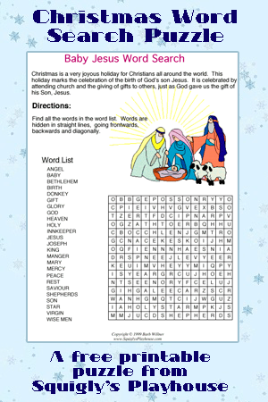 image regarding Christmas Word Search Puzzles Printable referred to as Printable Xmas Puzzles for Little ones Squiglys Playhouse