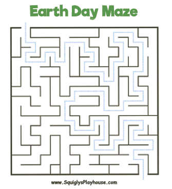 Earth Day Maze Answer