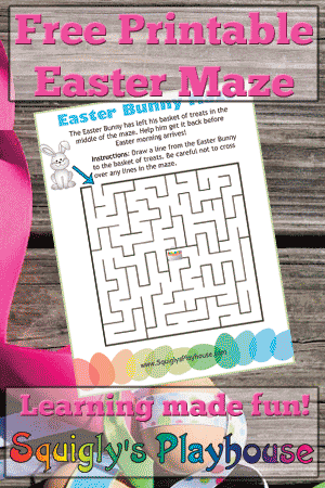 Free printable Easter Maze for KIds