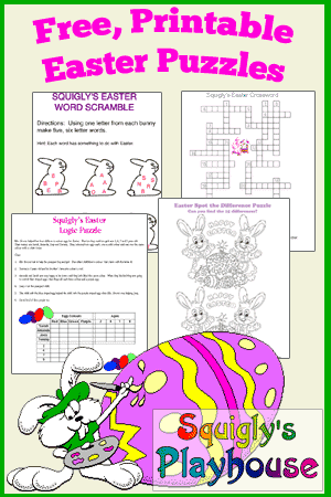 Printable Easter Puzzles for Kids.