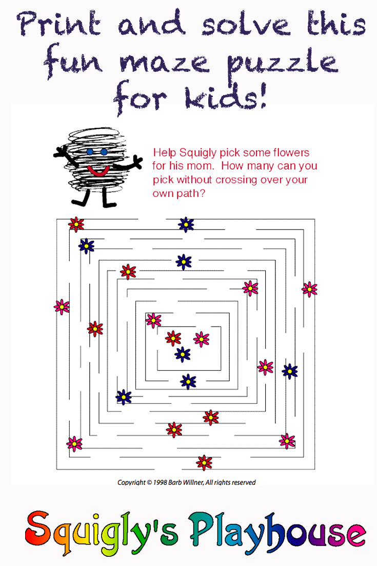 Fun Mother's Day Pencil Puzzles for Kids!